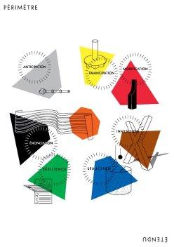 « Périmètre étendu » - Recto du carton d'invitation © Niels Wehrspann