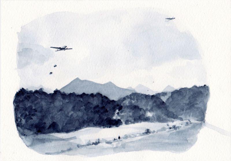Indochine paysage, 17x24cm,2012