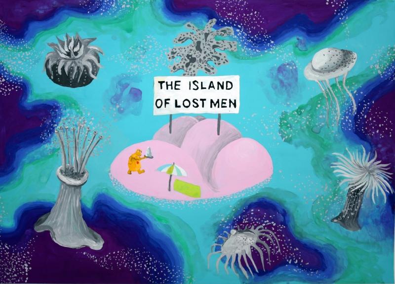128998_the_island_of_lost_men_gouache_sur_papier_24x32_cm._2012._c_anne_bregeaut