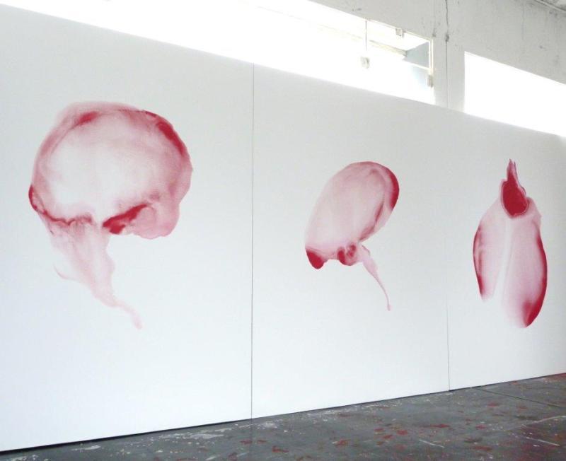 natalie lamotte 2012 Studio avec serie 250x180cm, acrylic on canvas