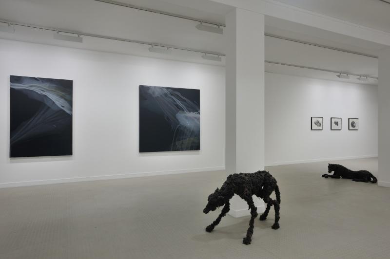 Vue 1 de l'exposition Parenth+¿ses et suspensions_Lionel Sabatt+®_Galerie municipale_copyright Rebecca Fanuele