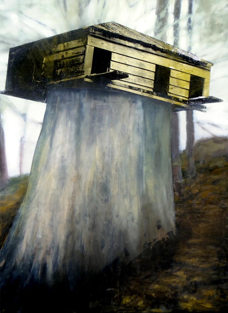 Eva Nielsen_Blumen_2013_huile_acrylique et serigraphie sur toile_190x145cm_courtesy Galerie Dominique Fiat_Paris