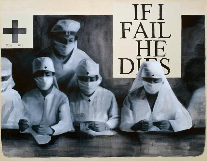 If I fail he dies, 2011, acrylique sur toile, 114 x 144 cm