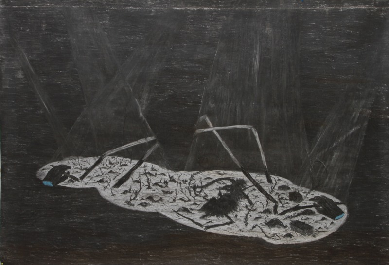 Untitled. Charcoal on paper. 155cm x 225cm.2013. JPG