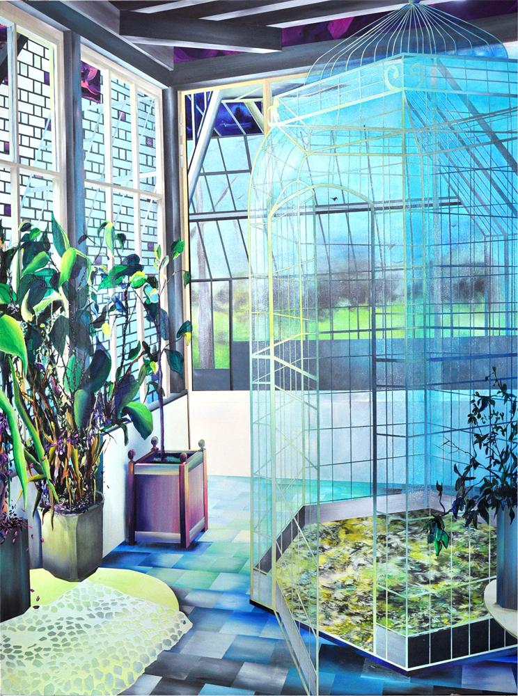 Escape, 2014 - acrylique sur toile - 200 x 150 cm