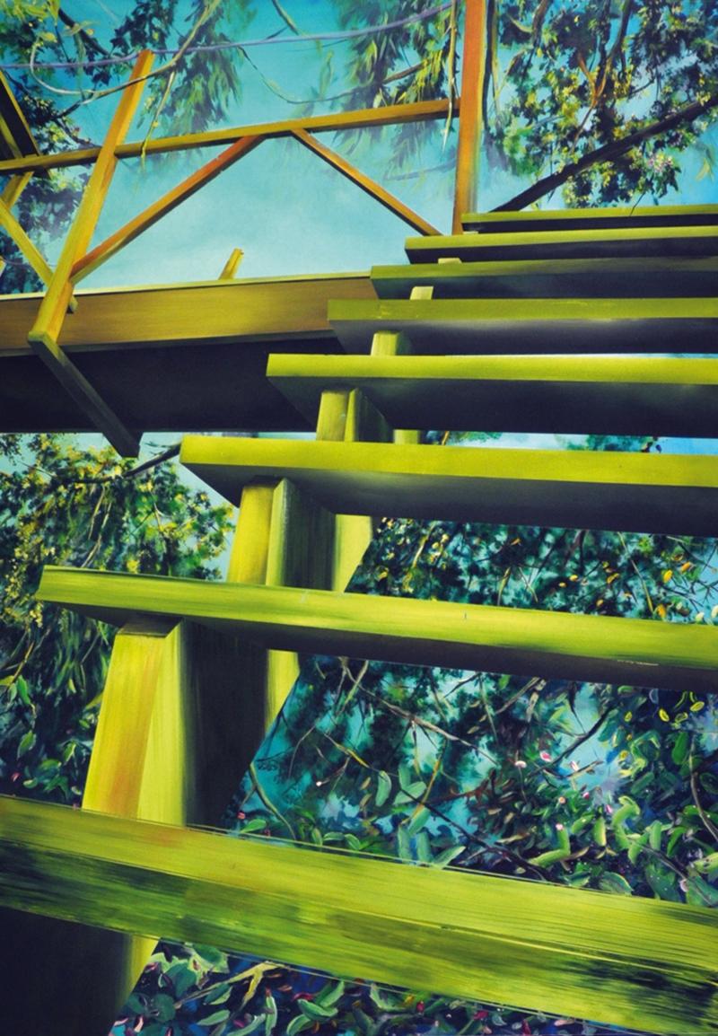 Tour de Garde, 2012 - 162 x 114 cm - Acrylique sur toile