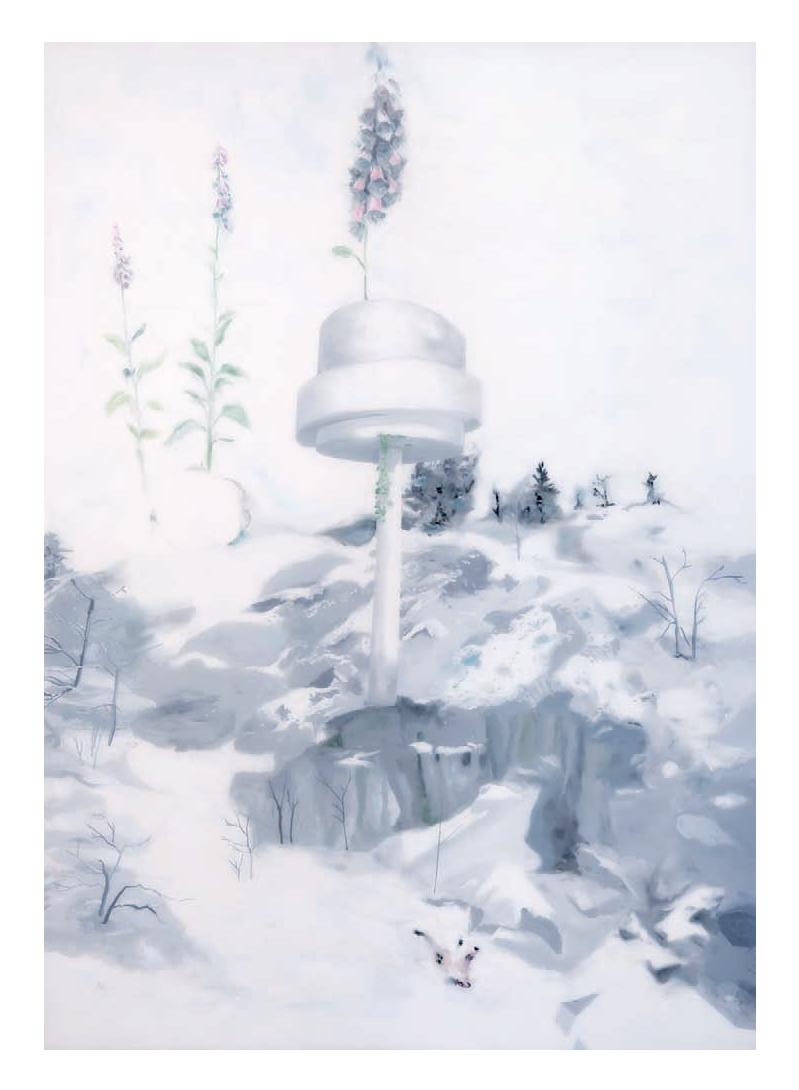 Muriel Rodolosse, Future, 2010 peinture sous Plexiglas,  200 x 140 cm Crédit photo: Muriel Rodolosse