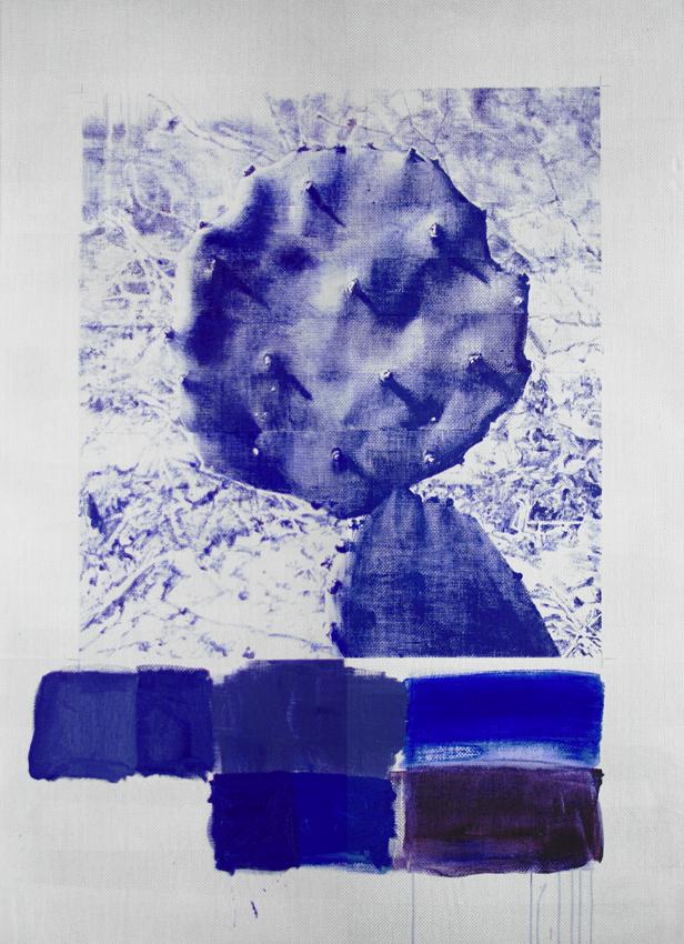 Marcel Berlanger, Opuntia, 2011 Huile sur fibre de verre 170 x 125 cm 66 7/8 x 49 1/4 in (Courtesy / Galerie Rodolphe Janssen)