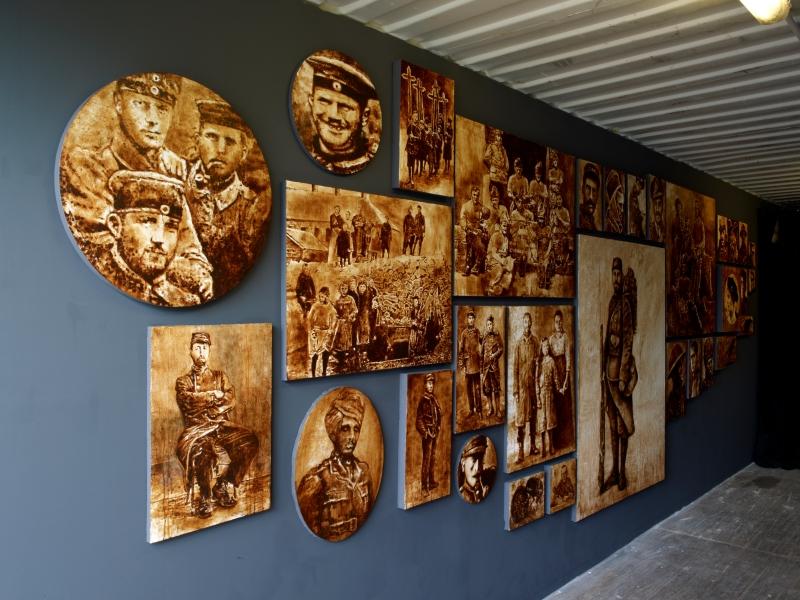 LIGNE DE FRONT, PHILIPPE MANIERE, En dec¦ºa¦Ç Au-dela¦Ç (DETAIL), PRODUCTION ARTOIS COMM_LAB-LABANQUE, PHOTO MARC DOMAGE, 2014