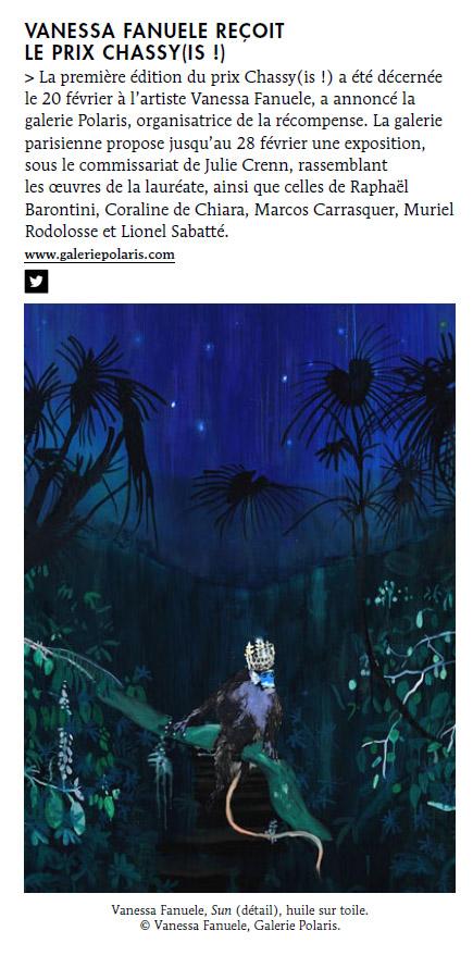 Le Quotidien de l'Art - 24 février 2015