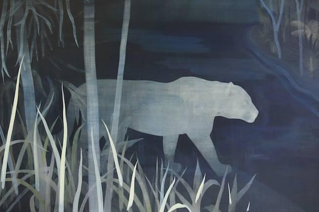 Caroline Gamon sans titre- acrylique sur bois - 80 x 120 cm - 2015