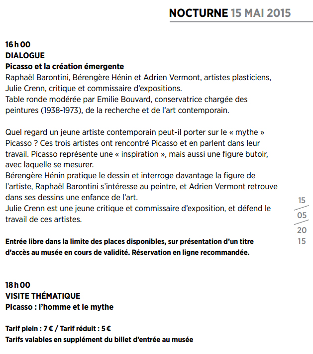 Table ronde picasso
