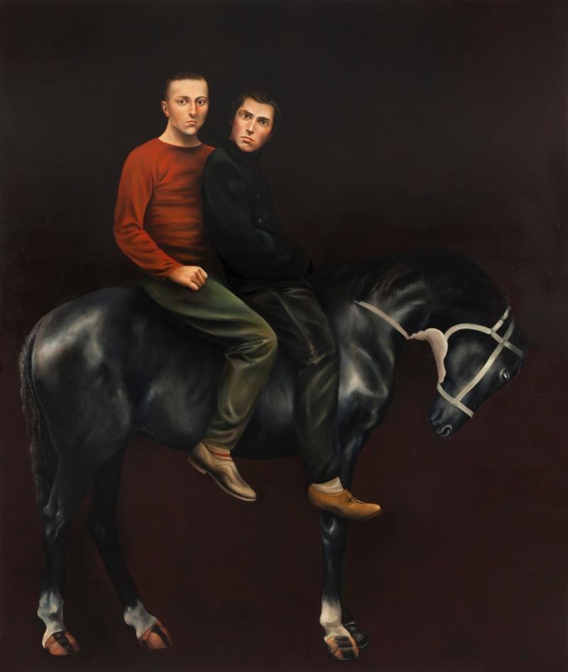 R.O.P. 2014 Huile et acrylique sur toile contrecollée sur panneau 216 x 183 cm Courtesy Galerie Nathalie Obadia