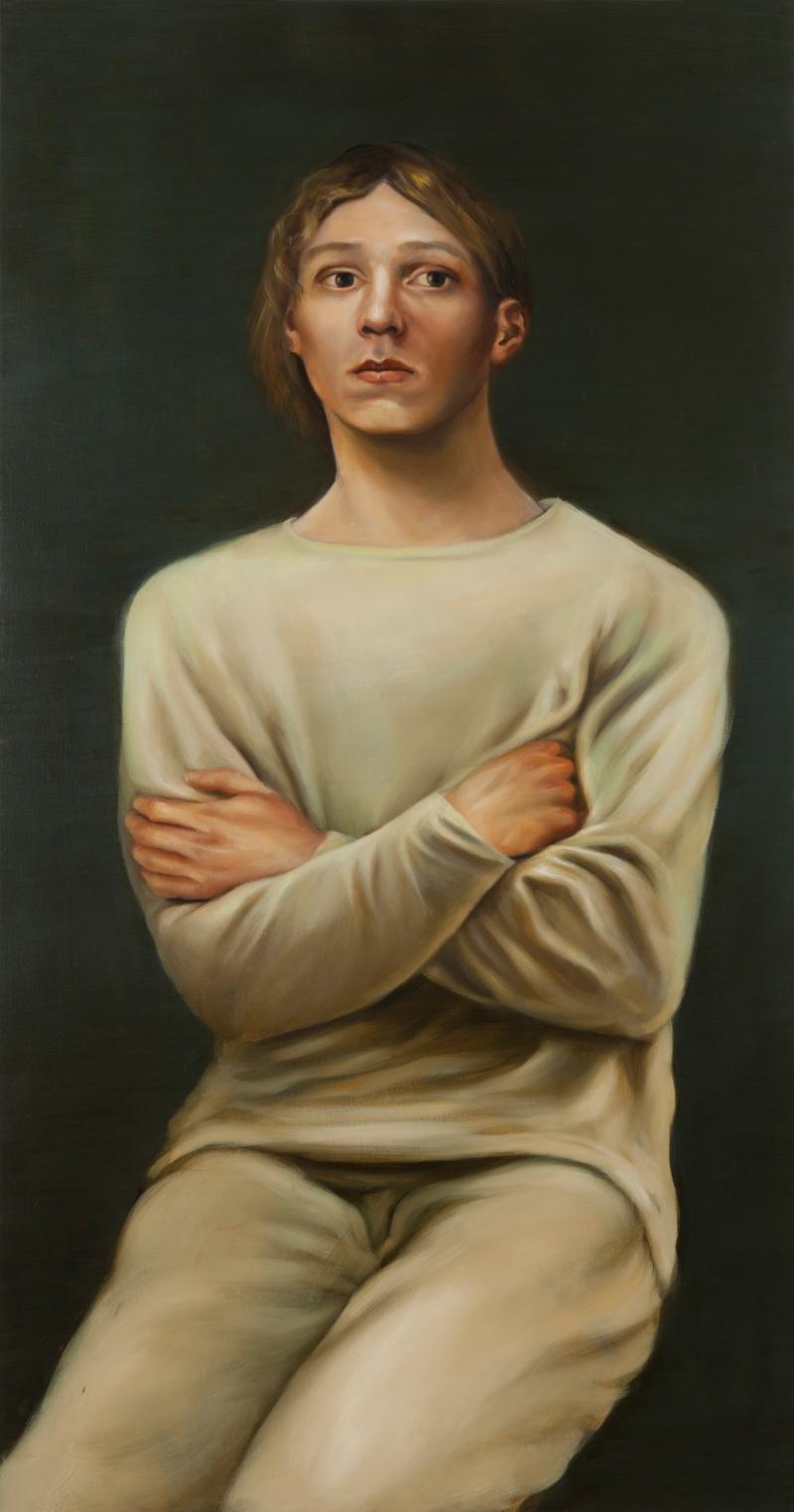 S.T.P. 2014 Huile et acrylique sur panneau 122 x 63,5 cm Courtesy Galerie Nathalie Obadia