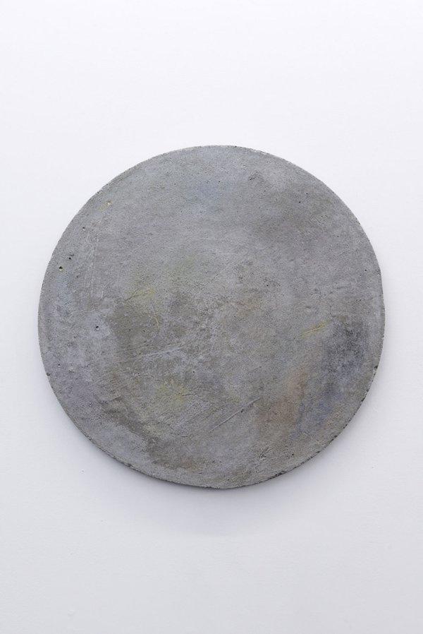 Sans titre (fards) - Ciment, fards à paupières Ecce terra, et cetera / Galerie Alain Gutharc, Paris, 2014