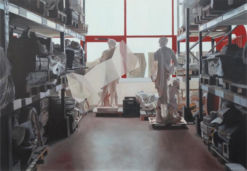 Coraline de Chiara. « Réserve II ou la copie » 2016 Huile sur toile 210x300cm
