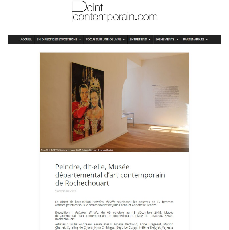 Point contemporain - peindre, dit-elle