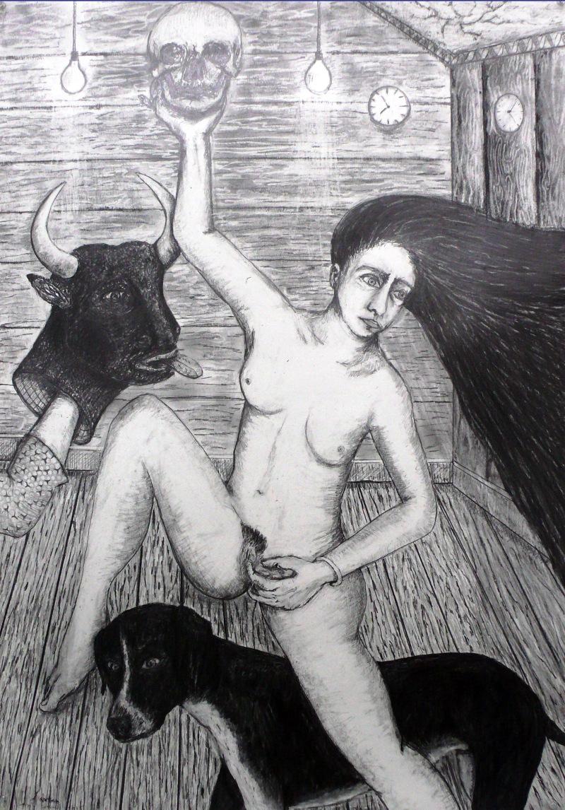 Extase, 2015, 70-100 cm, crayon sur papier