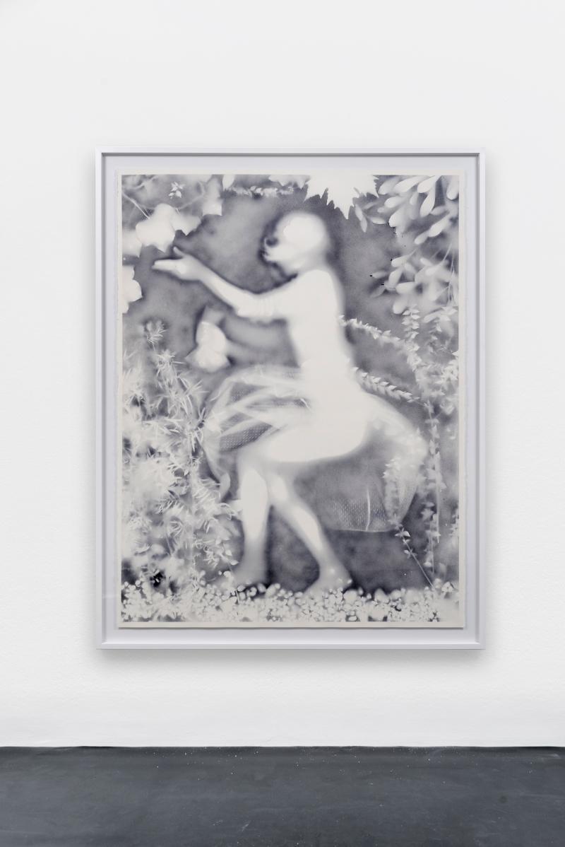 Hippolyte Hentgen De la série les résistantes, 2016 Encre sur papier 160 x 120 cm Photo: A. Mole Courtesy Semiose galerie, Paris.