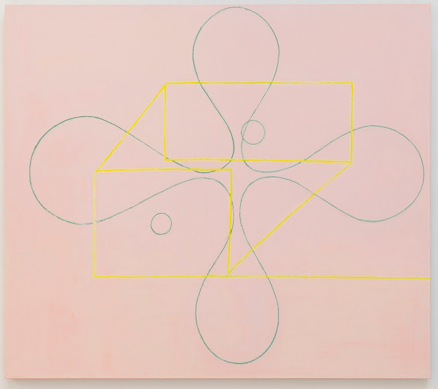 two circles 2015 oil on linen 65-x74-