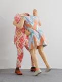Thedance(sculpture),2017,wood/fabric/wax,140x40x75cm/145x60x70cm3