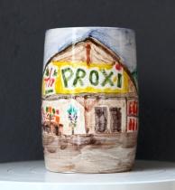 Suzanne Husky. Boutique de vrais souvenirs. Arras en Lavedan (Proxi),faïence, 10 x 10 x 15 cm, 2017, courtesy Galerie Alain Ghutharc