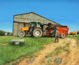 ÉLEVEURS, C. CLÉDAT - 2016, acrylique sur bois, 47 x 57 cm (BD)