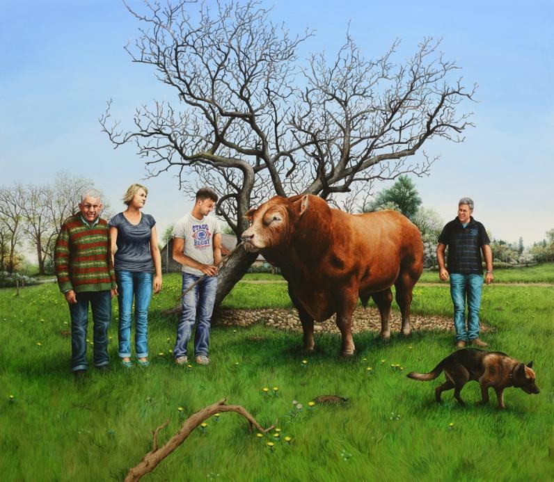 Les Bourbouloux (& Festival) - 2015, acrylique sur bois, 153 x 175 cm BD